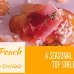 Maple Peach Whiskey Jam Crostinis