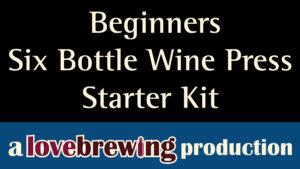BeginnersSixBottleWinePressStarterKit