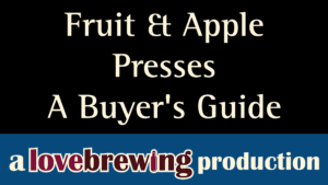 Fruit Apple Presses Buyers Guide